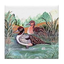 Pond Ducks Tile Coaster