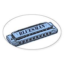 Bluesman Rectangle Bumper Stickers