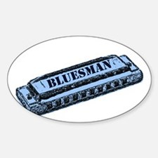 Bluesman Rectangle Bumper Stickers
