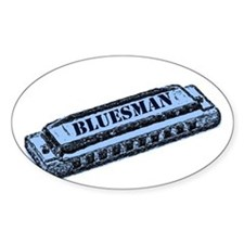 Bluesman Rectangle Decal