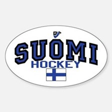 Finland(Suomi) Hockey Sticker (Oval)