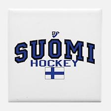 Finland(Suomi) Hockey Tile Coaster