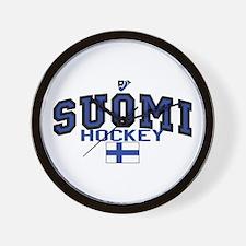 Finland(Suomi) Hockey Wall Clock