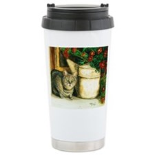 Cat with Watering Can Travel Mug