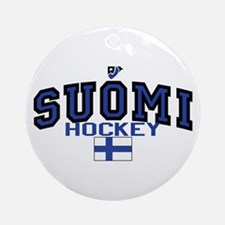 Finland(Suomi) Hockey Ornament (Round)