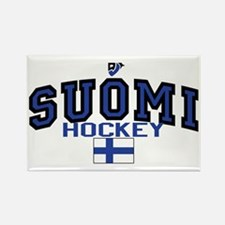 Finland(Suomi) Hockey Rectangle Magnet