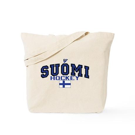 Finland(Suomi) Hockey Tote Bag