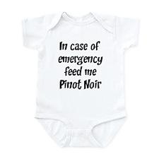 Feed me Pinot Noir Infant Bodysuit