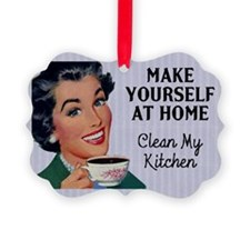 Vintage Clean My Kitchen Ornament