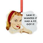 Vintage Woman Picture Ornament