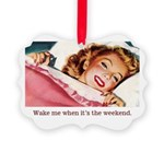 Vintage Weekend Picture Ornament