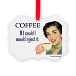 Vintage Coffee Picture Ornament