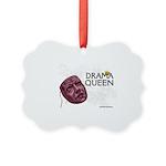 Vintage Drama Queen Picture Ornament