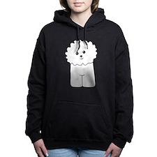 Bichon Frise Dog. Hooded Sweatshirt