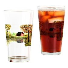 Pastoral Barn Drinking Glass