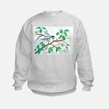Chickadee on a Branch Sweatshirt