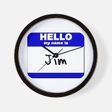 hello my name is jim  Wall Clock