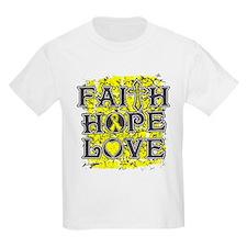 Endometriosis Faith Hope Love T-Shirt