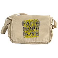 Endometriosis Faith Hope Love Messenger Bag