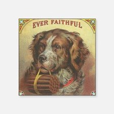 "Vintage Label Ever Faithful Square Sticker 3"" x 3"""