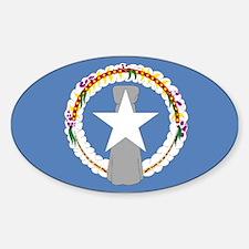 NMI flag Oval Decal