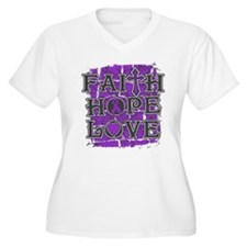 Epilepsy Faith Hope Love T-Shirt