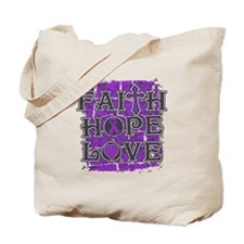 Epilepsy Faith Hope Love Tote Bag