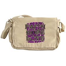 Epilepsy Faith Hope Love Messenger Bag
