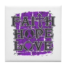 Epilepsy Faith Hope Love Tile Coaster