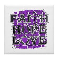 Epilepsy Faith Hope Love Tile Coaster