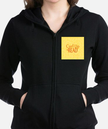 Curl Up and Read Yellow Zip Hoodie