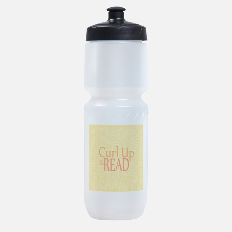 Curl Up and Read Yellow Sports Bottle