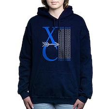 XC Run Blue Gray Hooded Sweatshirt