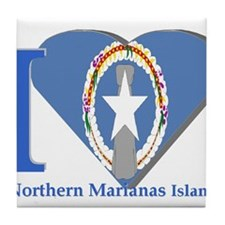 I love Northern Marianas Tile Coaster
