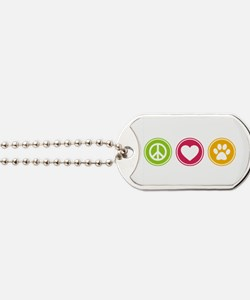 Peace - Love - Dogs Dog Tags