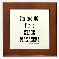 I am a Stage Manager for light products Framed Til