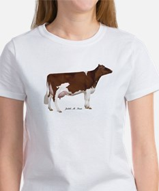 Red and White Holstein Milk Cow Tee