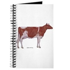 Red and White Holstein Milk Cow Journal