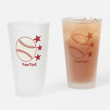 CUSTOMIZE Baseball Drinking Glass