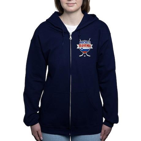 Hockey Hokej Slovenia Shield Zip Hoodie