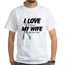 Love My Wife and Golf T-Shirt