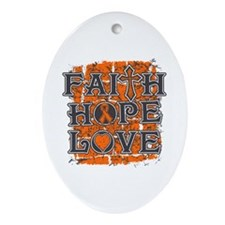 COPD Faith Hope Love Ornament (Oval)