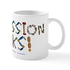 Depression Sucks! White Mugs