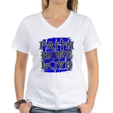 Colon Cancer Faith Hope Love Shirt