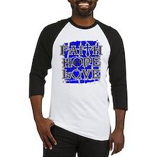 Colon Cancer Faith Hope Love Baseball Jersey
