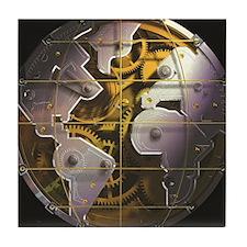 AXIS Watch globe black Tile Coaster