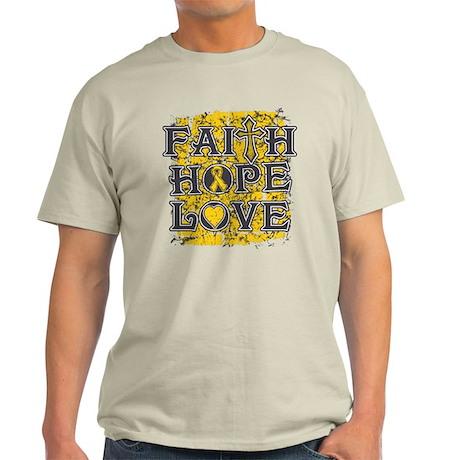 Childhood Cancer Faith Hope Love Light T-Shirt