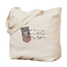 Funny Chief petty officer Tote Bag