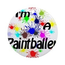 Paint Ball Design Ornament (Round)