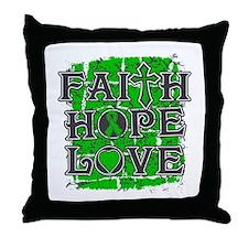 Cerebral Palsy Faith Hope Love Throw Pillow